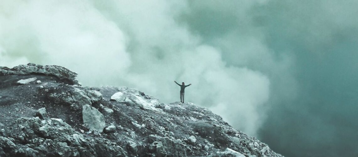 Person climbing mountain |I believe in personal sovereignty